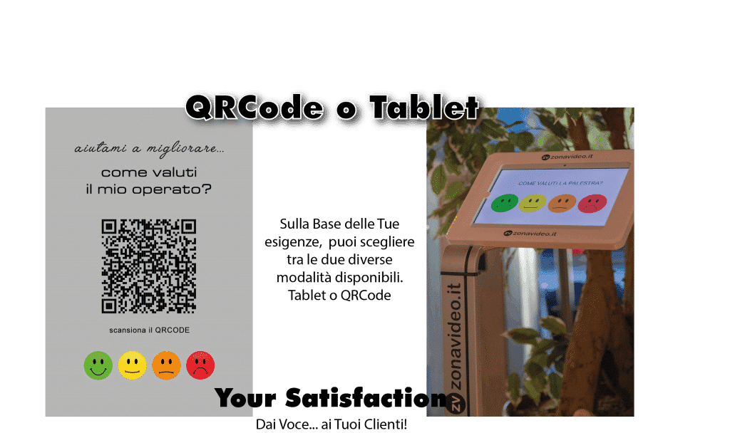qr code o totem customer satisfaction